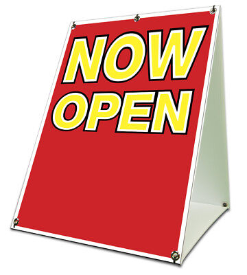 Now Open Sidewalk A Frame 18x24 Outdoor Vinyl Retail Sign