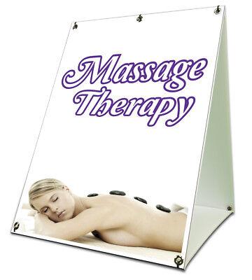 Massage Therapy Sidewalk A Frame 18x24 Outdoor Vinyl Retail Sign