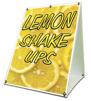 Lemon Shake Ups Sidewalk Sign Retail A Frame 18x24 Concession Stand Outdoor