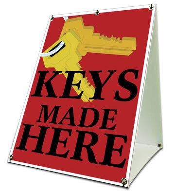 Keys Made Here Sidewalk A Frame 18x24 Outdoor Retail Sign Locksmith
