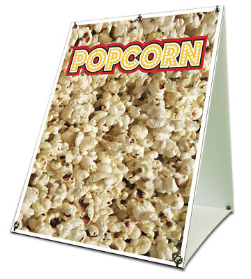 Popcorn Sidewalk Sign Retail A Frame 18x24 Concession Stand Outdoor