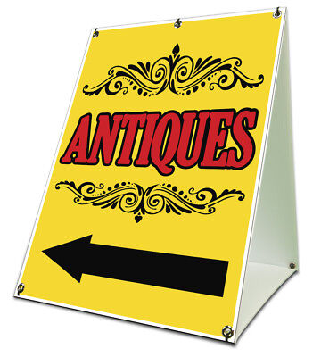 Antiques Sidewalk A Frame 18x24 Outdoor Retail Sign