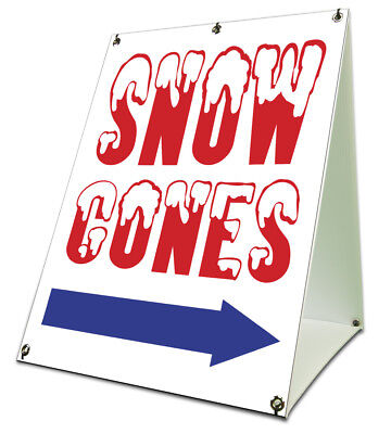 Snow Cones Sidewalk A Frame 18x24 Outdoor Concession Stand Retail Sign
