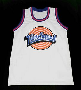 TAZ-TUNE-SQUAD-SPACE-JAM-MOVIE-JERSEY-WHITE-QUALITY-NEW-ANY-SIZE-XS-5XL