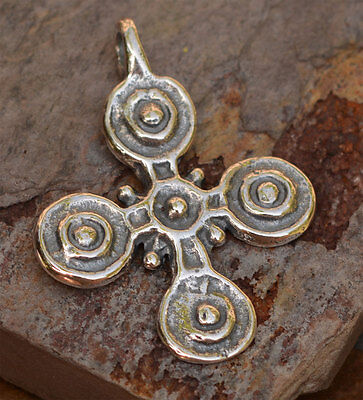Vintage Reproduction Old Stigmata Cross Pendant in Sterling Silver
