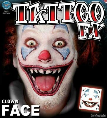 Scary Halloween Clown Makeup (Tinsley Transfers Killer Clown Face Halloween Creepy Scary Costume)