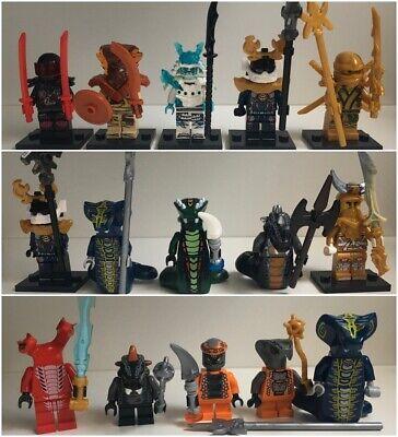 Lego Ninjago Style Minifigures - Snakes, Samurai, Gold Lloyd - Choose A Set