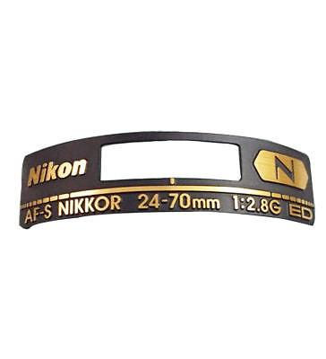 New Original Lens Fuselage Name plate Label Plate For Nikon AF-S 24-70 mm F/2.8G - New Lens Plate