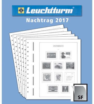 LEUCHTTURM Nachtrag Österreich 2017 mit Klemmtaschen