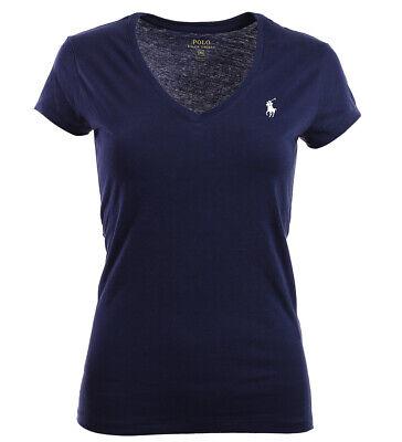 Polo Ralph Lauren Damen V-Neck Shirt T-Shirt navy (Ralph Lauren Kleider Für Frauen)