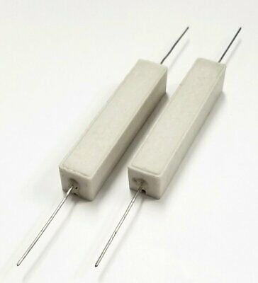 Lot Of 2 20 Ohm 25 Watt Wirewound Ceramic Power Resistors 25w