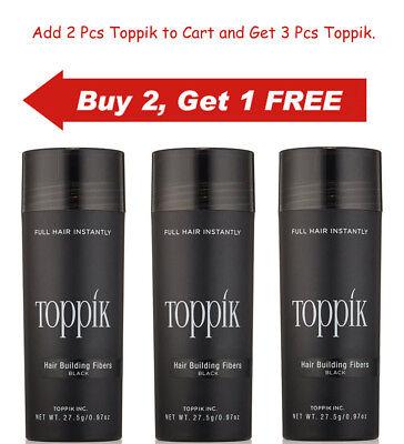 Dark Brown Black Medium Brown Gray 27.5g Toppik Hair Building Fiber Buy 2 Get 1