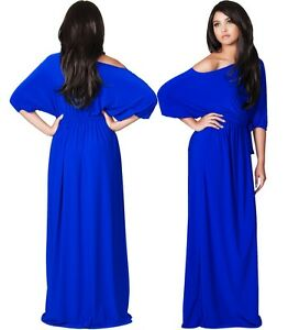 NEW Womens Cobalt Blue One Shoulder Evening Plus Size Long Maxi Dress 2XLarge 2X