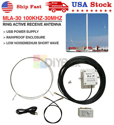 MLA-30+ Plus Loop Antenna Active Receiving Antenna Cable Cord FShort Wave Radio