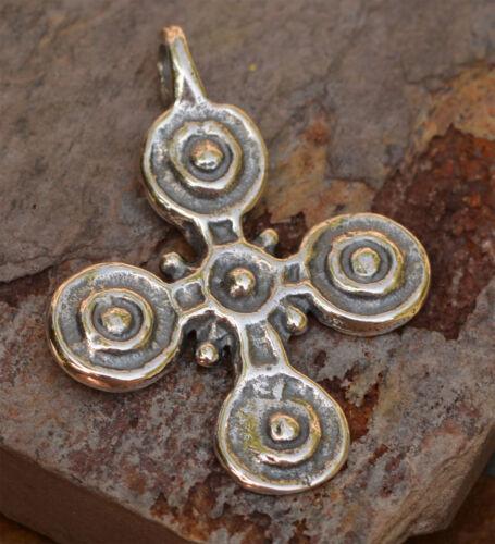 Ethiopian Coptic Cross in Sterling Silver, R-127, Stigmata Cross
