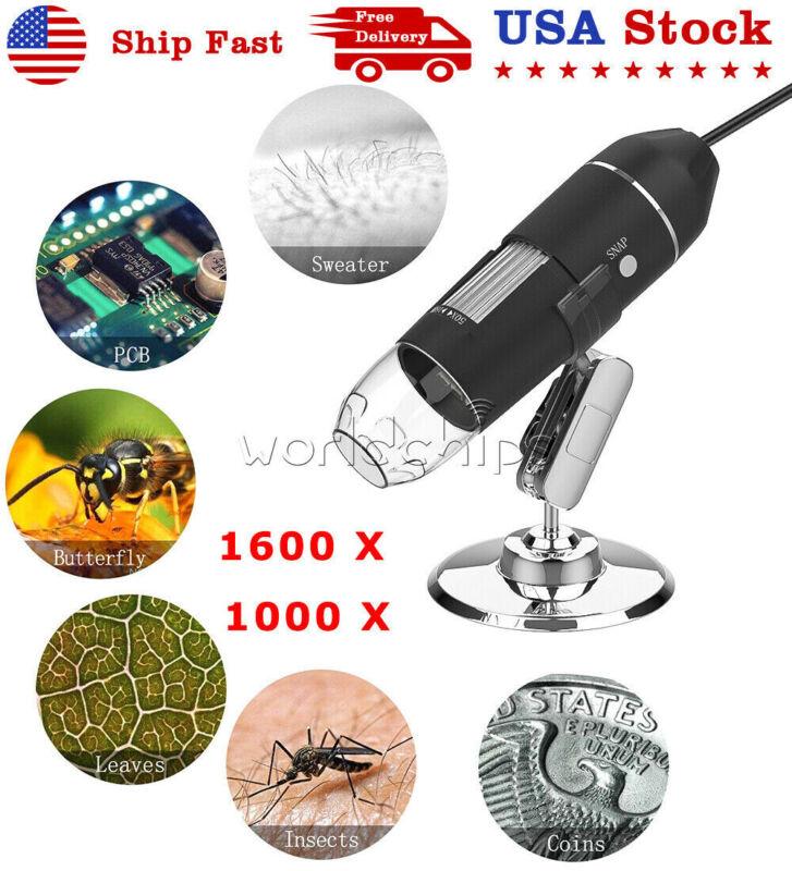 1000X 1600XDigital USB 2.0 Type-C 8 LED Handheld Microscope Endoscope Magnifier
