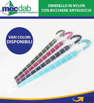 Ombrello Unisex Con Bicchiere Antigoccia Vari Colori Ombrello Pioggia Grande