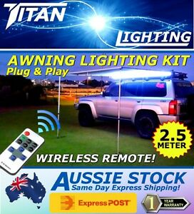 2.5M AWNING LED LIGHT KIT 4X4 4WD ARB Ironman Foxwing Camping + Wireless Remote!