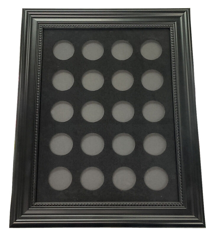 "Chip Insert 20 Casino Chips Display Board with Frame 9x12"" HOLDS 20 CHIPS *"