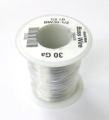 New 30 Gauge Tinned Copper Bus Wire 12 Pound Roll 1644 Approx. Lgth 30awg