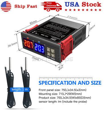 Stc-3028 Dual Probe Temperature Humidity Controller Digital Thermostat 110v-220v