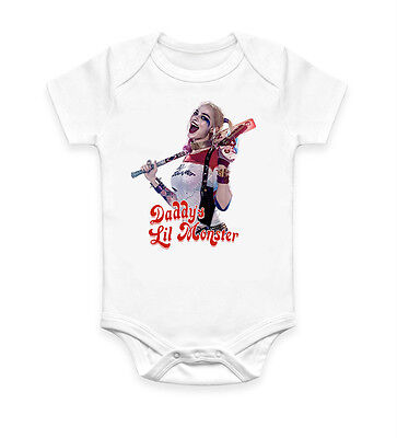 Funny Harley Quinn Baby Grow Bodysuit Baby Suit Vest Ideal Gift Unisex (1692) (Harley Quinn Baby)