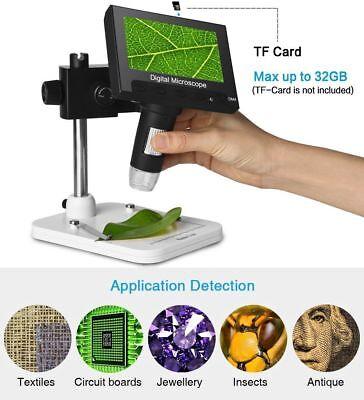 1000x 4.3 Lcd 720p Microscope Led For Circuit Board Repair Soldering Tool Usa