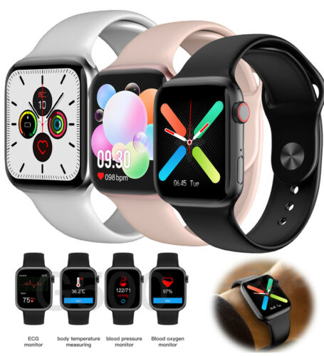 Bluetooth Smart Watch with Heart Rate Monitor ECG Analysis f