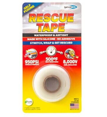 Rescue Tape Rt12012bcl Silicone Repair Tape 1 Inch X 12 Feet