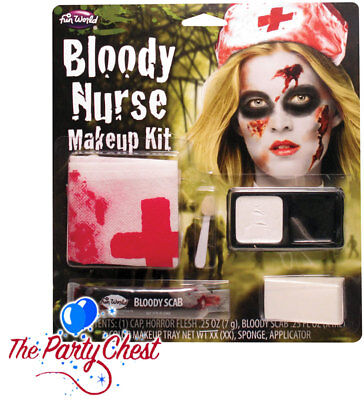 BLOODY NURSE MAKEUP SET Halloween Horror Hospital Doctors Face Paint Set 9422N - Nurse Halloween Makeup
