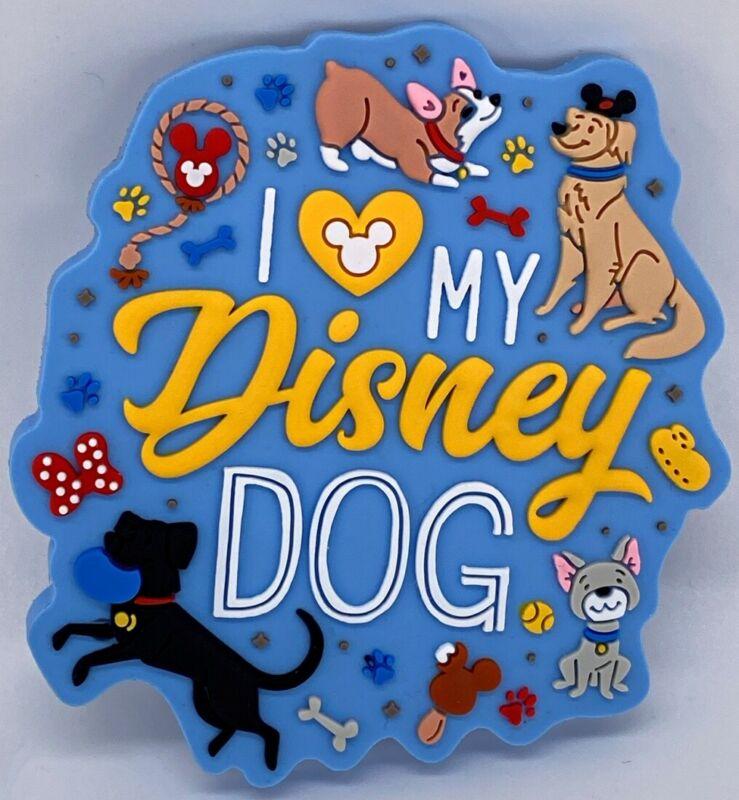 Disney Parks I Heart My Disney Dog WDW Magnet PVC - NEW
