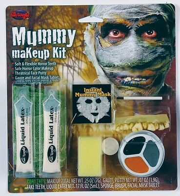 Rotted Mummy Complete Makeup FX Kit Halloween Costume Accessory (Mummy Makeup Halloween Costume)