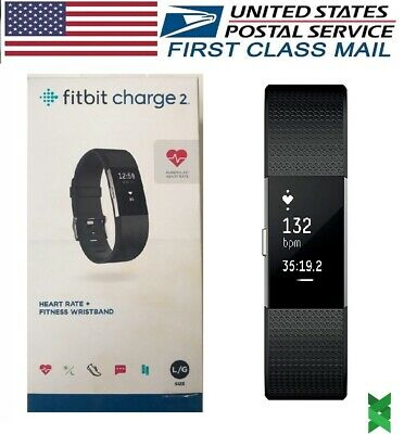 Fitbit Charge 2 Heart Rate Monitor Fitness Activity Tracker Small Large Black