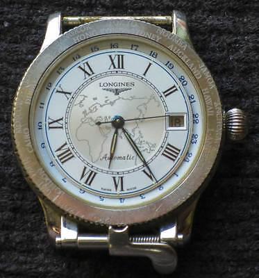 80's Longines Charles Lindbergh 33 jewels, Aviator  Automatic Wristwatch