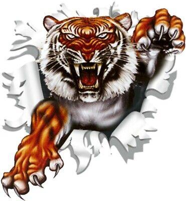 Aufkleber Einschussloch 90 mm Motiv Tiger Sticker Tattoo Styling  Motorrad Tiger Aufkleber
