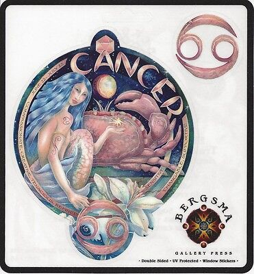 CANCER Zodiac Fairy Stickers Car Decals Jody Bergsma astrology symbol sticker