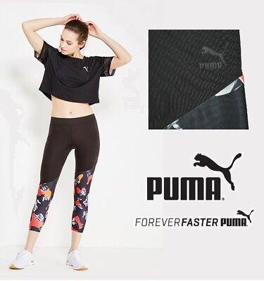 PUMA Camou Print 7/8 Leggings Pants - Black - Women's Medium (M) - New with Tags
