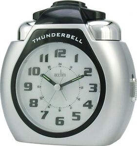 Acctim Thunderbell Alarm Clock Extra Loud Alarm With Light & Snooze