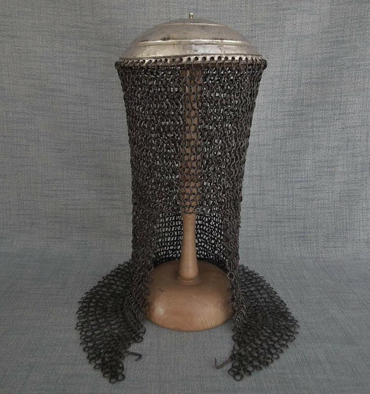 Antique 17th Century Crimean Tatar Islamic Helmet Turkish Ottoman Style to sword