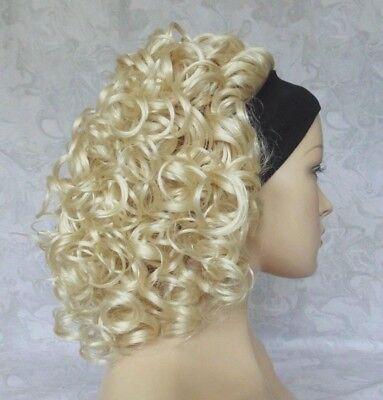 Short Thick Super Curly Bright Blonde Headband Wig - 2781 - Headband Wigs Short