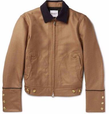 TAKAHIROMIYASHITA THE SOLOIST. camel wool silk military jacket