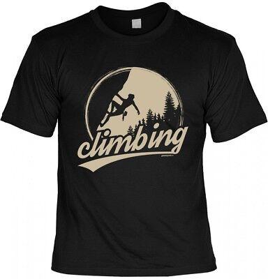 T-Shirt Goodman Design für Kletterer - Climbing - Geschenk Idee Bergsteiger ()