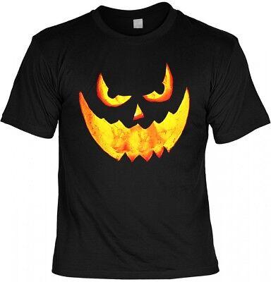 Halloween T-Shirt - Kürbis Fratze - gruseliges Shirt Kostüm Verkleidung (Halloween T Shirt Kostüme)