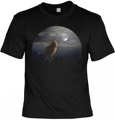 Halloween T-Shirt - Eule mit Vollmond gruseliges Shirt - Halloween Vollmond