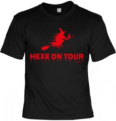 Halloween T-Shirt - Hexe on Tour - gruseliges Shirt Kostüm Verkleidung (Halloween T Shirt Kostüme)