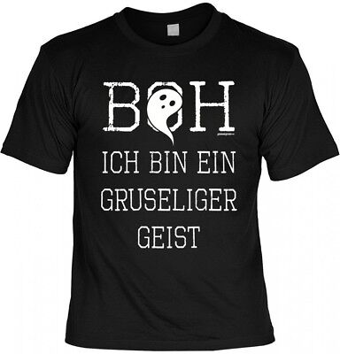Halloween T-Shirt - Ich Bin Ein Gruseliger Geist - gruseliges Shirt Kostüm Party ()