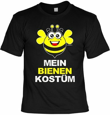 T-Shirt: Mein Bienen Kostüm- T-Shirt für Fasching / Karneval - (Männliche Bienen Kostüm)