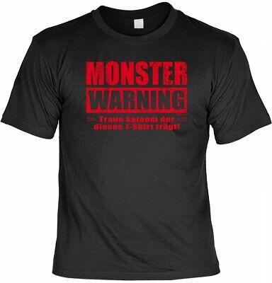 Halloween T-Shirt - Monster - Warning - gruseliges Sprüche Shirt für Halloween