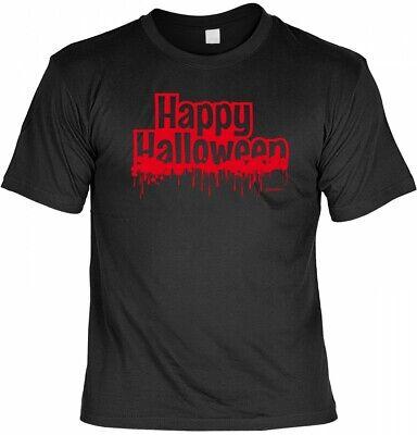 Halloween T-Shirt - Happy Halloween - gruseliges Sprüche Shirt für Halloween