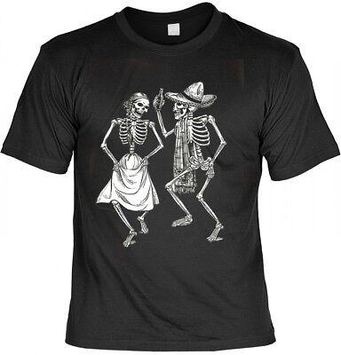 T-Shirt - Tanzende Skelette - Gruseliges Motiv Halloween Shirt Geschenk Bones